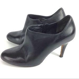 Cole Haan Black Heel Zip Up Ankle Booties Size 7.5
